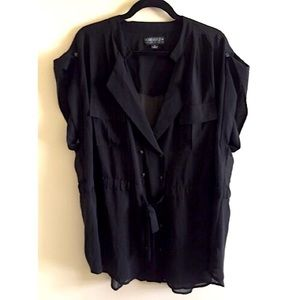 Forever 21 Beautiful Black Blouse